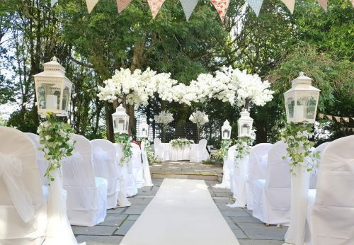 Wedding Setup in Garden 2